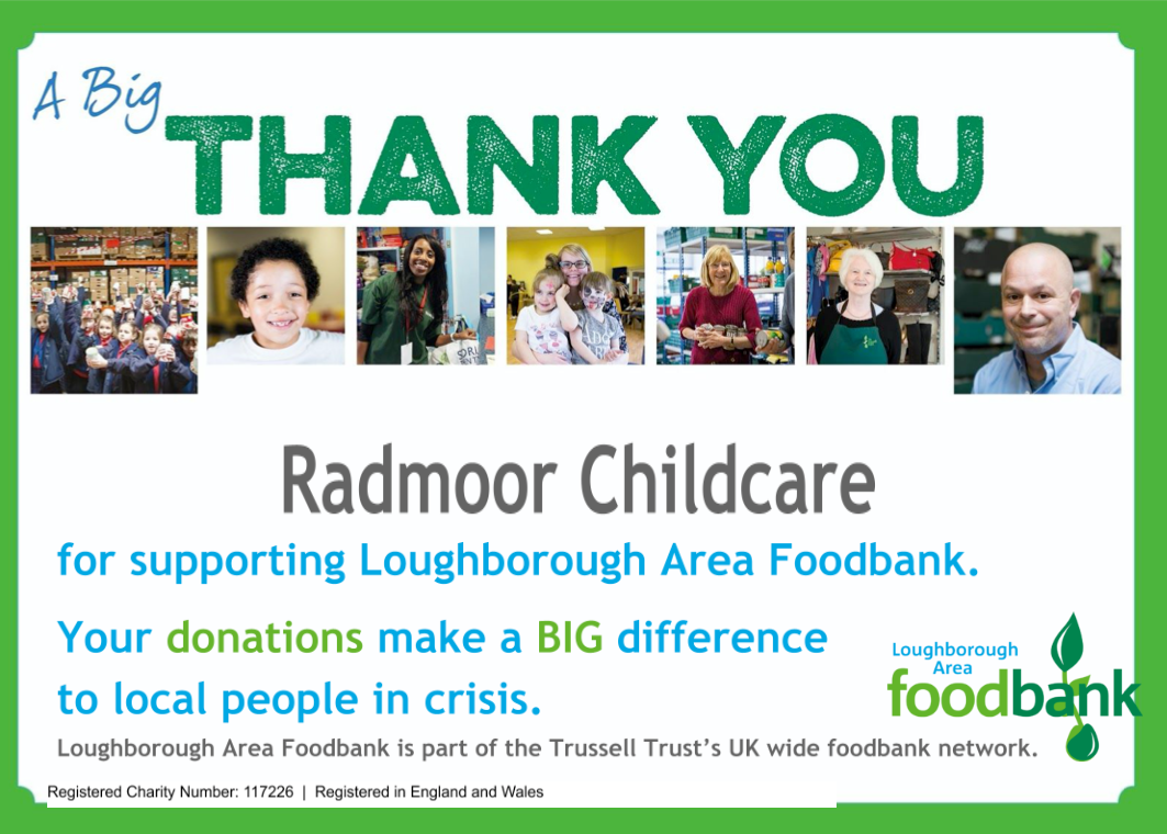 A thank you from the Loughborough Area Foodbank