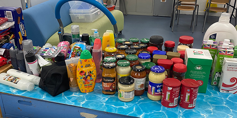 Food for the food bank