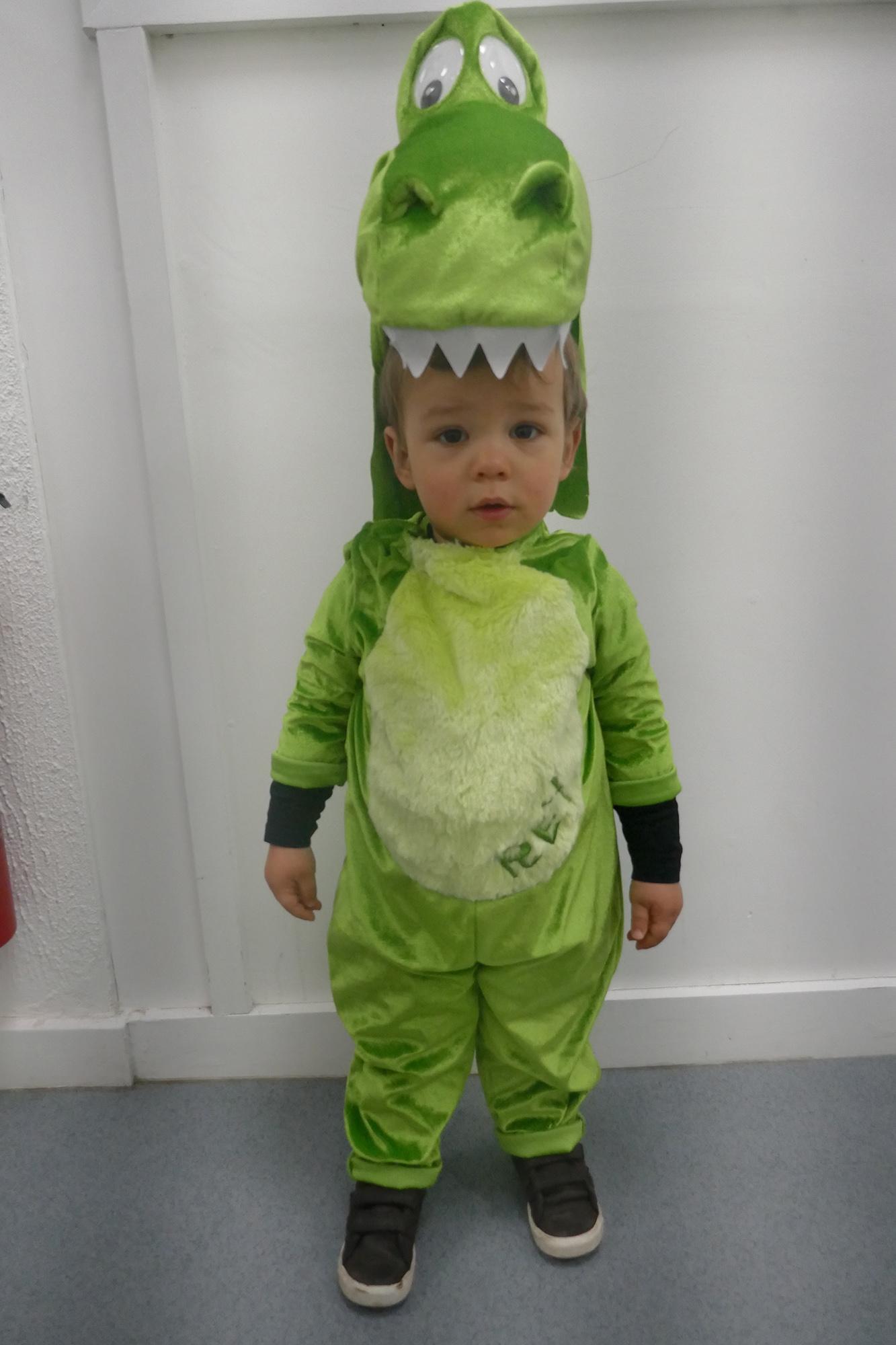 Child dressed as a Dinosaur