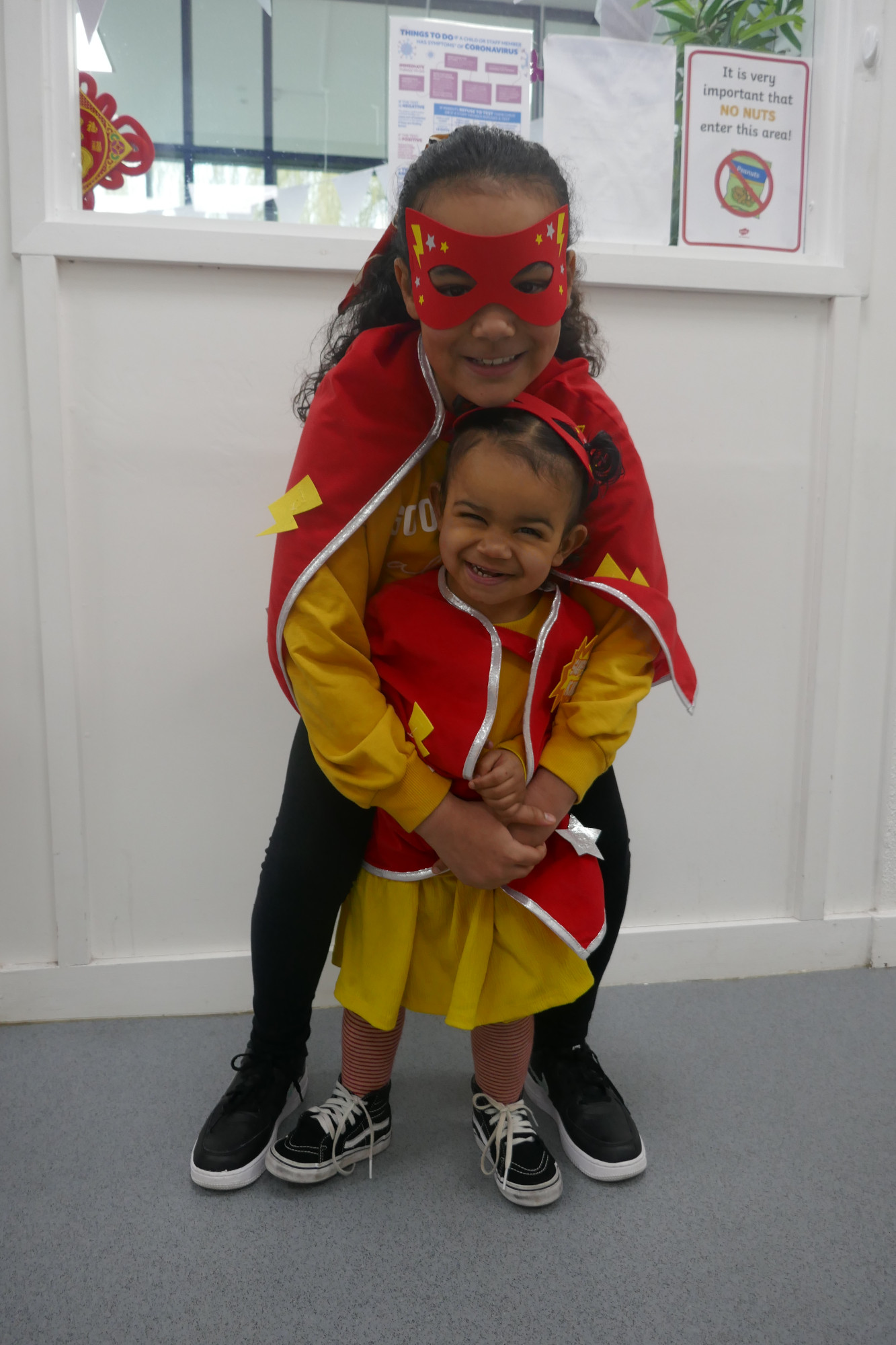 Children dressed as Super Heroes