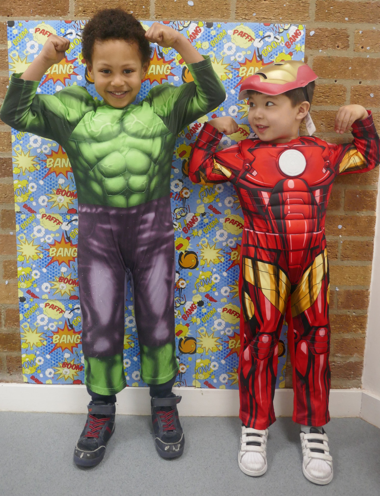 Children dressed up as super heroes
