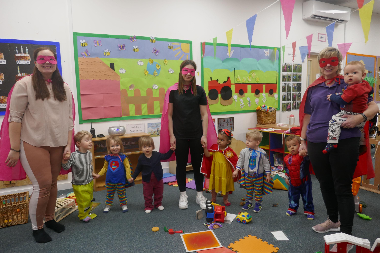 Staff and Children dressed up